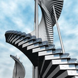 Toekomstige architectuur Royalty-vrije Stock Afbeelding