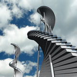 Toekomstige architectuur Stock Foto's