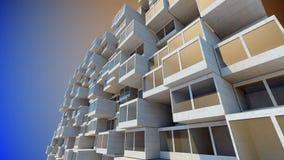 Toekomstige architectuur De futuristische bouw De moderne bouw Toekomstig concept stock videobeelden
