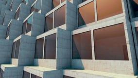 Toekomstige architectuur De futuristische bouw De moderne bouw Toekomstig concept stock video