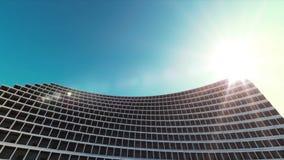 Toekomstige architectuur De futuristische bouw De moderne bouw Toekomstig concept stock footage