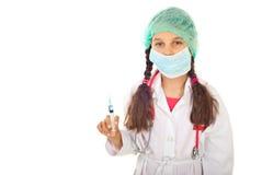 Toekomstige arts met beschermend masker Stock Foto's