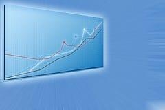 Toekomstige bedrijfsoplossingen, moderne grafieken Stock Foto's