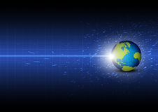 Toekomstige digitale globale technologie Stock Afbeelding
