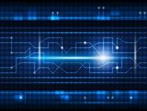 Toekomstige digitale technologieachtergrond Stock Afbeeldingen