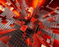 Toekomstige grafische stad   Vector Illustratie