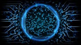 Toekomstige het Conceptenachtergrond van Technologiecyber Abstract hallo Snelheids Digitaal Ontwerp De Achtergrond van het veilig royalty-vrije illustratie