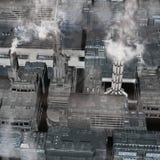Toekomstige Industriële Stad Stock Afbeelding