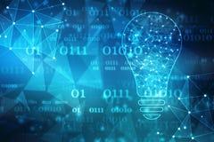 Toekomstige technologie, innovatieachtergrond, creatief ideeconcept royalty-vrije illustratie
