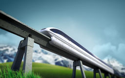 Toekomstige trein Stock Foto's