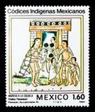 Toelating aan School, Mexicaanse Inheemse Codices - 1a Reeks ser royalty-vrije stock foto's