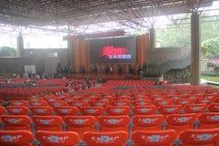 Toelating van studenten bij het Universitaire Theater van Shenzhen stock afbeelding
