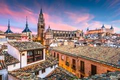 Toeldo, Spanje in Dawn royalty-vrije stock afbeelding