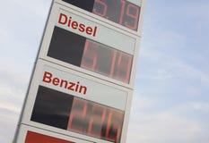 Toenemende brandstofprijzen royalty-vrije stock afbeeldingen