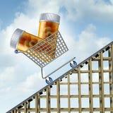 Toenemende Geneeskundekosten Stock Afbeelding