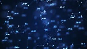Toenemende globale netwerk en gegevensverbindingen Een abstracte achtergrond van Internet-mededeling in virtuele ruimte vector illustratie