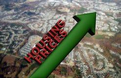 Toenemende huizenprijzen royalty-vrije illustratie