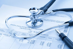 Toenemende medische kosten Stock Afbeelding