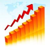 Toenemende winsten vector illustratie
