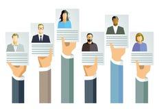 Toepassing voor baan en aanbieding stock illustratie