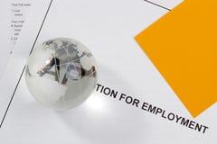 Toepassing voor Werkgelegenheid Stock Foto's