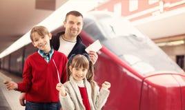 Toerisme, het concept van de familiereis stock foto's