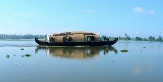 Toerisme in India, de binnenwateren van Kerala Stock Afbeelding