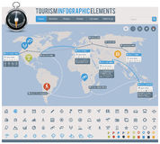 Toerisme infographic elementen Stock Afbeelding
