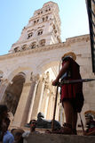 Toerisme in Kroatië/Spleet, Legionair en van Heilige Domnius Klokketoren Stock Fotografie