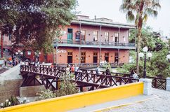 Toerisme in Lima, de hoofdstad van Peru stock afbeeldingen
