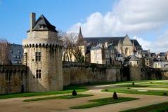 Toerisme middeleeuws in Vannes stock afbeeldingen