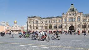 Toerisme op het Rode Vierkant Royalty-vrije Stock Fotografie