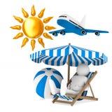 Toerisme op witte achtergrond Geïsoleerde 3d illustratie vector illustratie