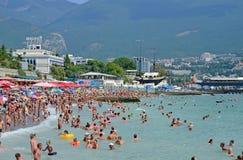 Toerisme, recreatie, toevlucht Mooie aard en recreatie in de stad van Yalta De Krim, de Oekraïne Royalty-vrije Stock Fotografie
