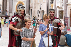 Toerisme in Spleet, Kroatië/Roman Legionaries stock afbeelding
