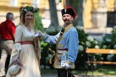 Toerisme in Zagreb/de Uitvoerder en de Fee van Verbodsjelacic royalty-vrije stock fotografie