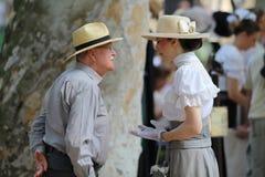 Toerisme in Zagreb/het Spreken over de 19de Eeuwstijl royalty-vrije stock foto