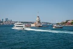 toerismeboot Istanboel royalty-vrije stock foto's