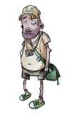 Toerist royalty-vrije illustratie