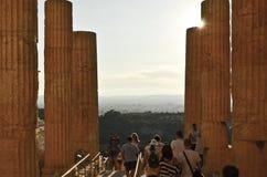 Toerist in Athene Royalty-vrije Stock Fotografie