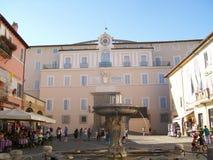 De woonplaats van de paus stock fotografie
