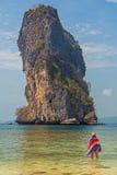 Toerist bij Poda-eiland Royalty-vrije Stock Foto's