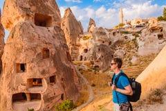 Toerist in Cappadocia stock afbeelding