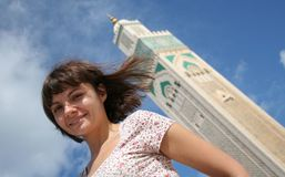 Toerist in Casablanca stock foto