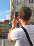 Toerist die een foto neemt Stock Foto's