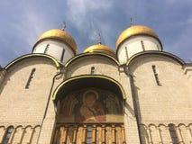 Toerist die in het Kremlin bezienswaardigheden bezoeken Stock Afbeeldingen
