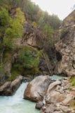 Kloof adyr-Su, de Kaukasische bergen, beschermde streek, Rusland Royalty-vrije Stock Foto's
