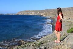 Toerist in Gran Canaria stock afbeeldingen
