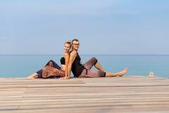 Toerist het ontspannen op Koh Kood Stock Afbeeldingen
