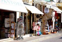 Toerist het winkelen straat, Rethymno royalty-vrije stock afbeeldingen